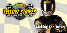 Yellow Stripes Making the Driver