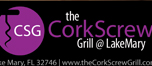 Cater to cocktail hour, business networking, and socializing. Corkscrew grille fun inviting ad is the look that matches their demographic.